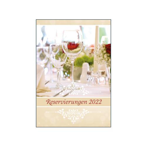 Exklusives Reservierungsbuch 2022 Gastronomie, Gastro Planer, Terminbuch, Hardcover, A4, 572 Seiten
