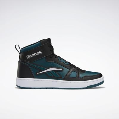 Reebok Unisex Resonator Mid Basketball Shoes in Core Black/Midnight Pine/Ftwr White Size M 9.5 / W 11 - Basketball Shoes
