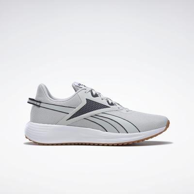 Reebok Men's Lite Plus 3 Running Shoes in Pure Grey 2/Vector Navy/Ftwr White Size 11.5 - Running Shoes