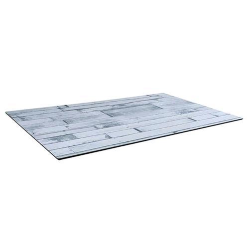 Tischplatte compact WhiteBlock 120X69cm Dünn Outdoor Hotel wetterfest Esstisch Bistrotisch Terrassentisch