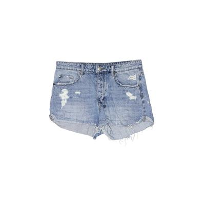 Tsubi Denim Shorts: Blue Solid B...