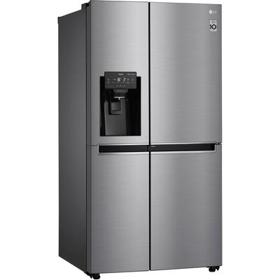 LG Side-by-Side, GSJ471DIDZ, 179 cm hoch, 91,2 breit, Door-in-Door™ E (A bis G) silberfarben Side-by-Side Kühlschränke SOFORT LIEFERBARE Haushaltsgeräte