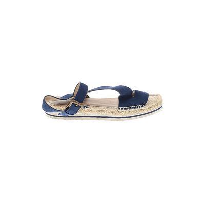Nordstrom Signature Sandals: Blue Solid Shoes - Size 38