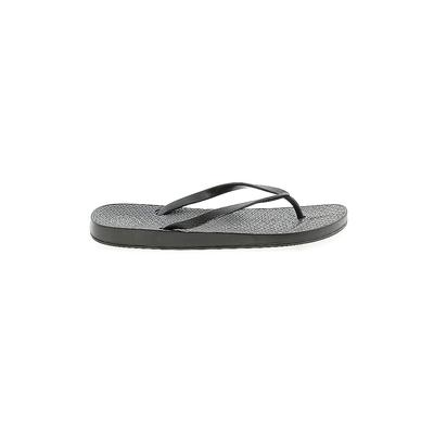 SO Flip Flops: Black Solid Shoes - Size 7