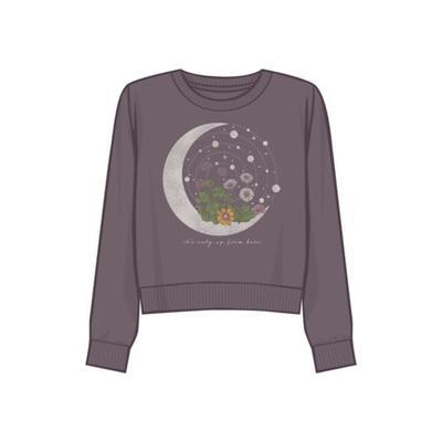 Fifth Sun™ Moonscape Junior's Moon Celestial Graphic Sweatshirt