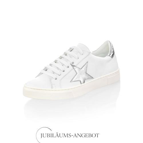 Alba Moda, Sneaker mit Stern-Applikation, weiß