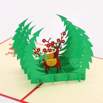 Carte de vœux de cerf de noël Po...