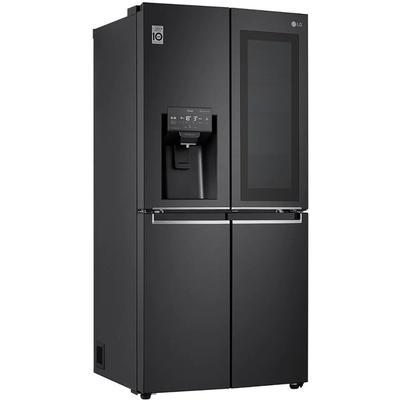 LG French Door, GMX844MC6F, 178,7 cm hoch, 83,5 breit F (A bis G) schwarz Door Kühlschränke SOFORT LIEFERBARE Haushaltsgeräte