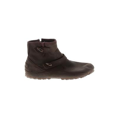 Merrell Ankle Boots: Brown Solid Shoes - Size 7