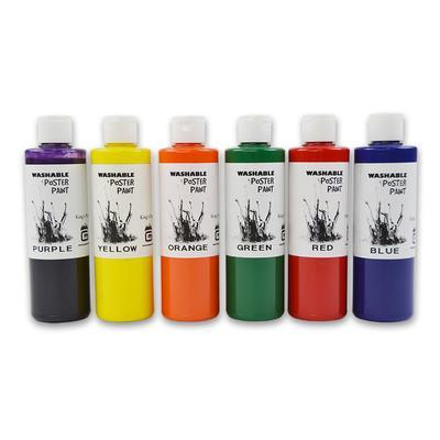 Gold Medal 7736 8 oz Washable Paint Kit w/ 2 of Each Color, 12 Bottles/Case
