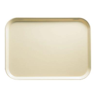 "Cambro 1318537 Fiberglass Camtray? Cafeteria Tray - 17 3/4""L x 12 3/5"" W, Cameo Yellow"