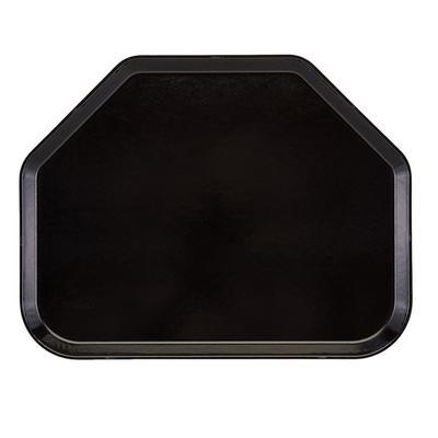 """Cambro 1520TR110 Fiberglass Camtray? Cafeteria Tray - 19 1/2""""L x 14 1/2""""W, Black"""