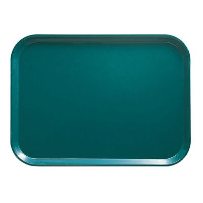"""Cambro 1826414 Fiberglass Camtray? Cafeteria Tray - 25 3/4""""L x 17 7/8""""W, Teal"""