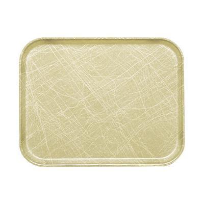 Cambro 57214 Fiberglass Camtray? Cafeteria Tray – 6 9/10″L x 4 9/10″W, Abstract Tan