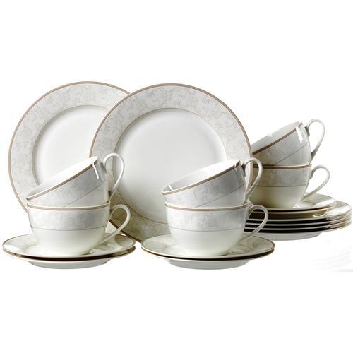 Ritzenhoff & Breker Kaffeeservice ISABELLA, (Set, 18 tlg.), Spülmaschinengeeignet weiß Geschirr-Sets Geschirr, Porzellan Tischaccessoires Haushaltswaren