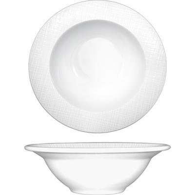 ITI DR-10 10 1/2 oz Dresden? Grapefruit Bowl - Porcelain, Bright White