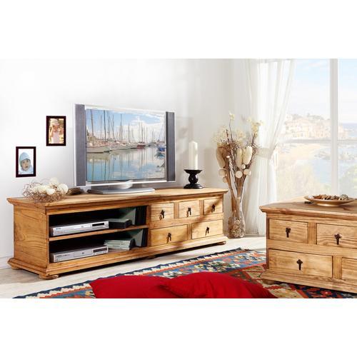 Mexico Möbel - TV-Kommode, Lowboard, Phonotisch, Pinie massiv