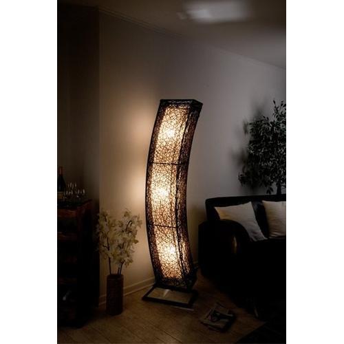 XXL Stehlampe Designerlampe Lampe mit Rattan