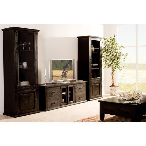 Kolonialstil Lowboard TV-Tisch, Massivholz