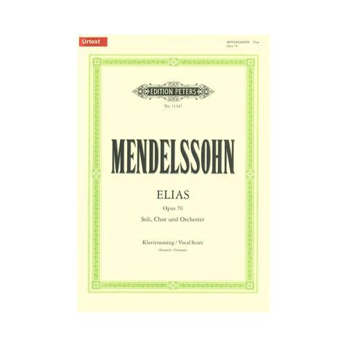 Edition Peters Mendelssohn Elias op.70