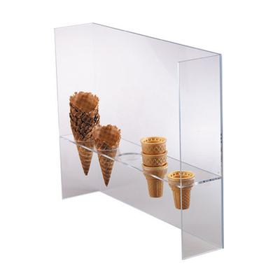 "Dispense-Rite CSG-5L Ice Cream Cone Holder w/ Guard, (5) 2""Holes, Acrylic, Clear"