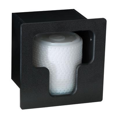 Dispense-Rite FMVL-1 Lid Dispenser, Built-In, 1 Section, Polystyrene, Black