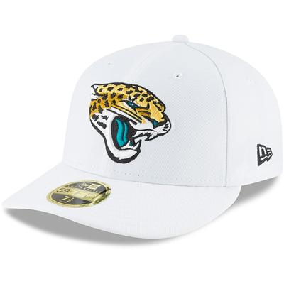 Men's Jacksonville Jaguars New Era White Omaha Low Profile 59FIFTY Fitted Hat