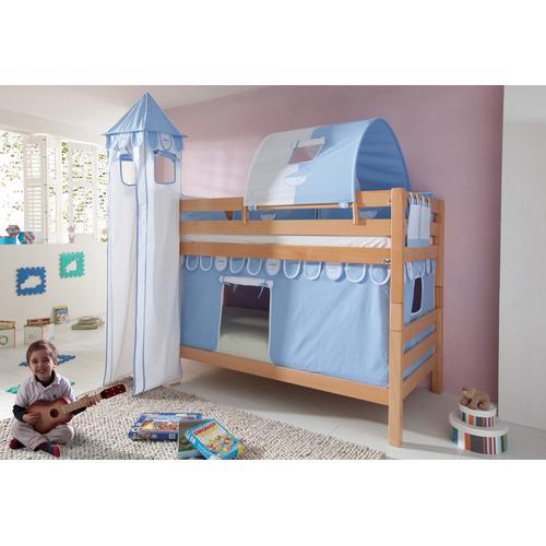Relita Etagenbett, Set 4-tlg. blau Kinder Etagenbett Kinderbetten Kindermöbel