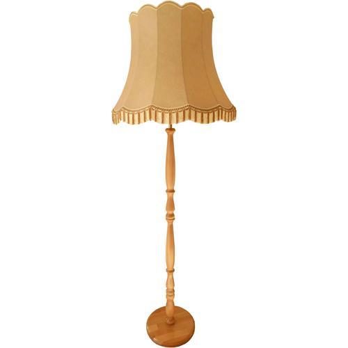 Stehlampe, E27 braun Standleuchten Stehleuchten Lampen Leuchten Stehlampe