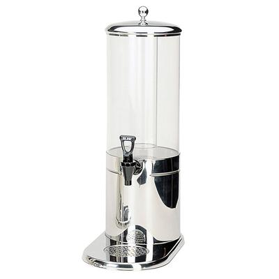Service Ideas GSP1S7 1 4/5 gal Beverage Dispenser w/ Ice Tube - Plastic Container, Stainless Base