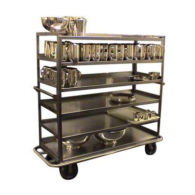 Carter-Hoffmann T610 Queen Mary Cart - 6 Levels, 1200 lb. Capacity, Stainless, Raised Edges