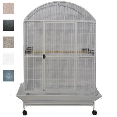 "A&E Cage Company Black Macaw Mansion Enormous X-Large Dometop Bird Cage, 48"" L X 36"" W X 76"" H"