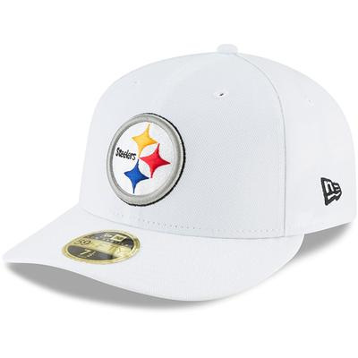 Men's Pittsburgh Steelers New Era White Omaha Low Profile 59FIFTY Fitted Hat