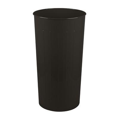 Witt 10BK 20 qt Round Waste Basket - Metal, Black
