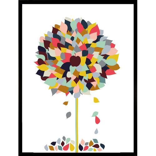 G&C Kunstdruck Appletree, 33/43 cm, gerahmt bunt Kunstdrucke Bilder Bilderrahmen Wohnaccessoires