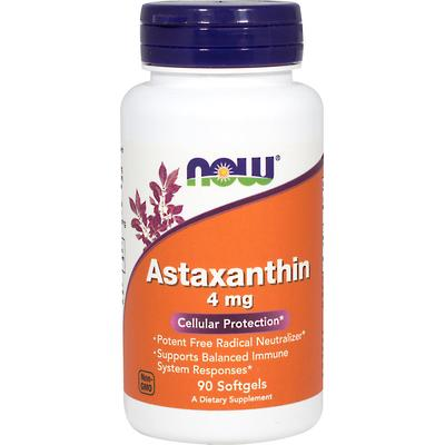NOW Foods Astaxanthin 4 mg Vegetarian-60 Softgels