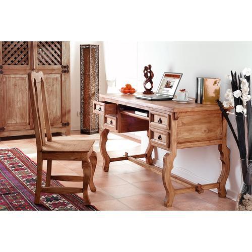 Mexico Möbel - Schreibtisch - 4 Schubladen, Pinie