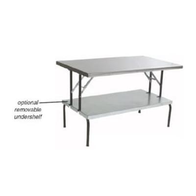 """Eagle Group T3072F-USS 30x72"""" Stainless Folding Table - Removable Undershelf"""