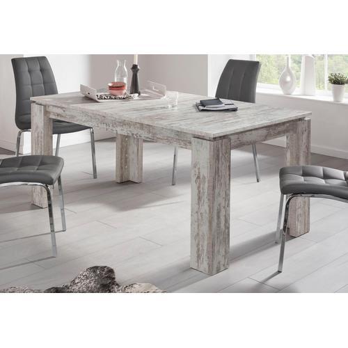 trendteam Esstisch, Länge 160-200cm weiß Esstisch Ausziehbare Esstische Tische