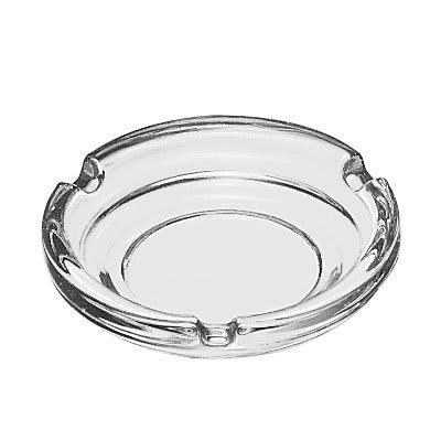 """Libbey 5156 4 1/4"""" Round Clear Glass Ashtray"""