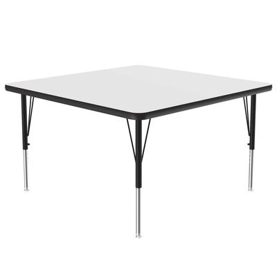 """Correll A4848-SQ 36 Activity Table w/ 1 1/4"""" High Pressure Top, 48""""W x 48""""D, White"""