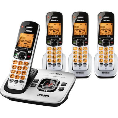 Uniden DECT 6.0 Expandable Cordless Phone System with Digital Answering System - UN-D1780-4