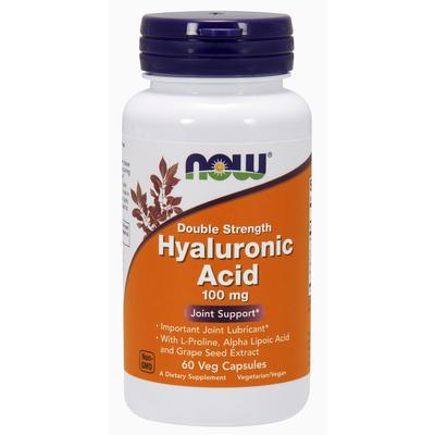 Now Foods Hyaluronic Acid Double Strength 100 mg 60 Veg Capsules