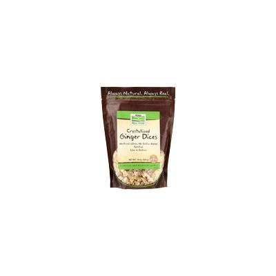 NOW Snacks - NOW Real Food - Crystallized Ginger Dices w/o Sulfur -