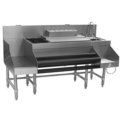 """Eagle Group CCS-60-1 60"""" Spec-Bar? Cocktail Station w/ 125 lb Ice Bin, Dump Sink, Stainless"""