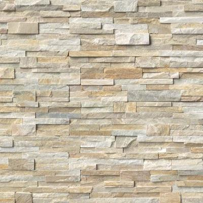 "MS International Golden Honey Ledger Panel 6"" x 24"" Natural Slate Wall"
