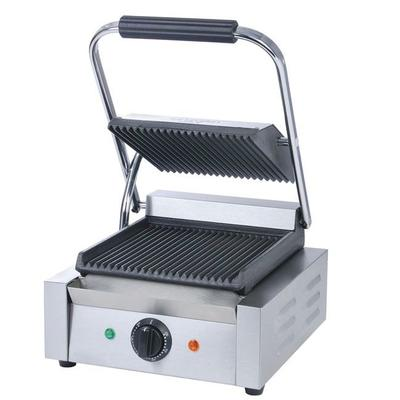 Adcraft SG-811 Single Commercial Panini Press w/ Cast Iron Grooved Plates, 120v