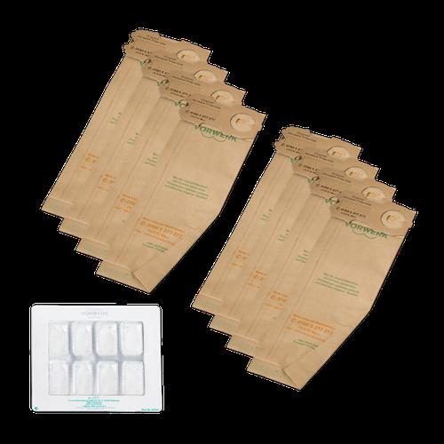 Vorwerk Kobold FP118-122 Filtertüten und Dovina Duftchips (je 8 Stk.)