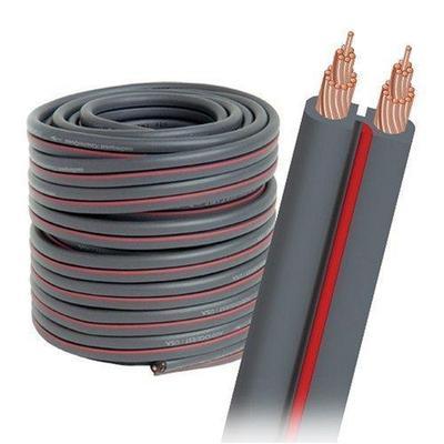 AudioQuest 50' X2 Flat Series Bulk Spool Speaker Wire (Gray) X-2G/50FT