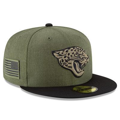 Men's Jacksonville Jaguars New Era Olive/Black 2018 Salute to Service Sideline 59FIFTY Fitted Hat